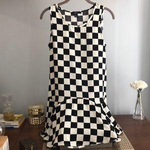Forever 21 Checkered Black & White Dress